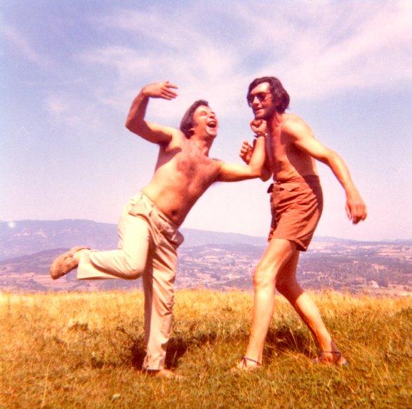 Julio Cortazar y Julio Silva retratados por Carol Dunlop