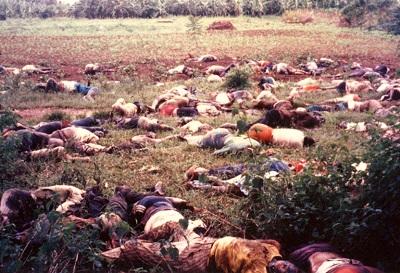Víctimas del genocidio ruandés. 1994.