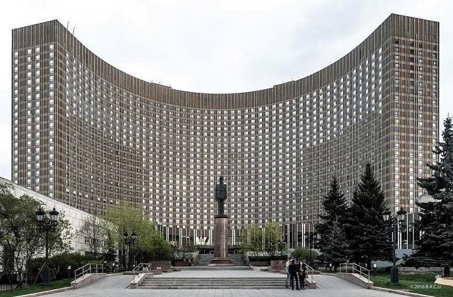 Moscú, Rusia. Hotel Cosmos (1979)