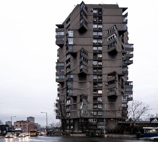 Belgrado, Serbia. Torre de viviendas Karaburma (1963)