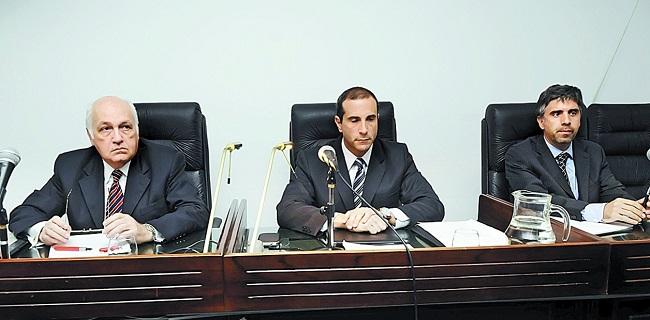 Los jueces Tassara, Gorini y Giménez Uriburu.