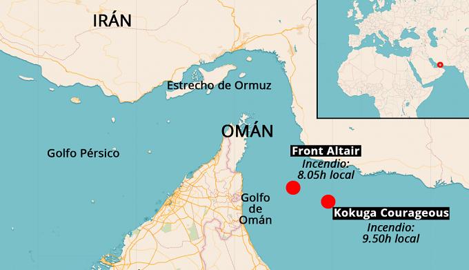 Golfo de Oman Mapa