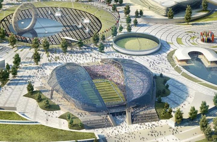 Al sur de Rusia en este estadio se están realizando obras para remodelarlo y aumentar su capacidad hasta 48.000 personas. Fue sede de la apertura y clausura de los Juegos Olímpicos de Invierno 2014.