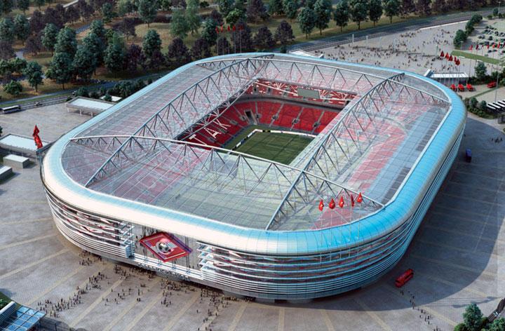 El único de los estadios para 2018 que hasta ahora ya sido financiado con dinero privado. Es un proyecto del club Spartak de Moscú, propiedad del magnate Leonid Fedun. Con capacidad para 42,000 personas fue construido donde había una pista de aviones en desuso. Su nombre será Arena Otkritie. Será una de las cuatro sedes de la Copa Confederaciones de 2017.