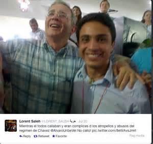 Venezuela Saleh Gómez con Uribe