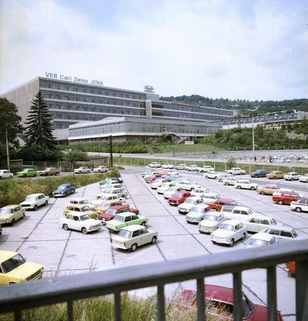 1978. Exterior de la fábrica Carl Zeiss en Jena