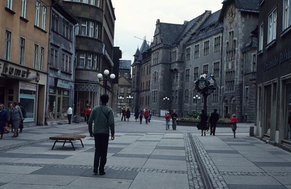 1980. Centro de la pintoresca ciudad de Rudolstadt