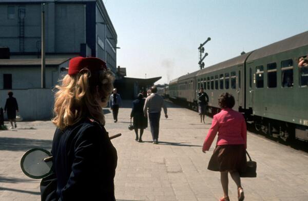 1980. Estación de trenes de Halberstadt