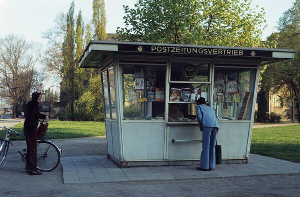 1980. Un kiosko en Magdeburgo
