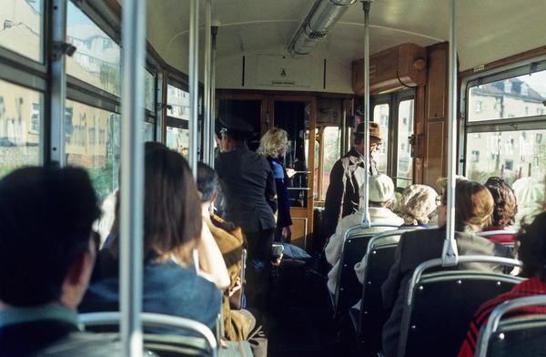 1980. Viajando en tranvía en Halberstadt