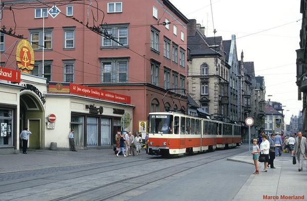1985. Tranvía en Érfurt