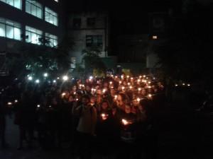 """""""Los estudiantes prendemos la luz cuando a la UBA se le viene la noche"""". Facultad de Sociales de la UBA"""