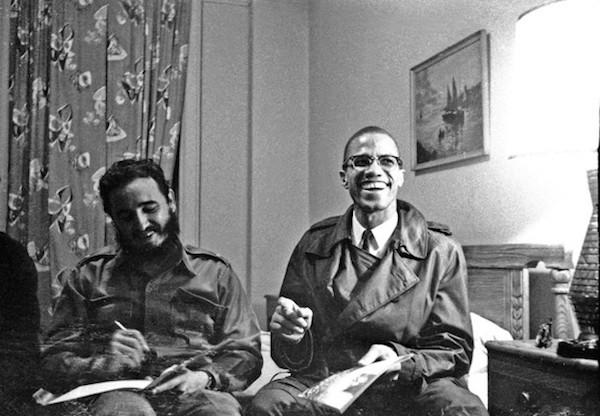 1960. Fidel y Malcom X