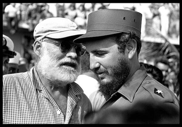 Fidel y Hemingway Salas