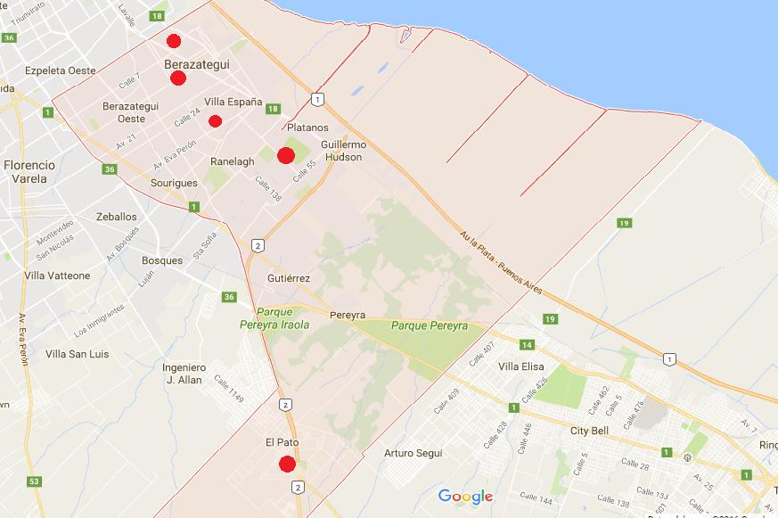 Zonas más afectadas. Fuente: El Termómetro