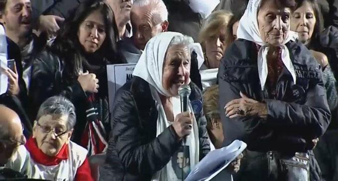 """Nora Cortiñas: """"Siento indignación y cada día tengo más ganas de luchar"""""""