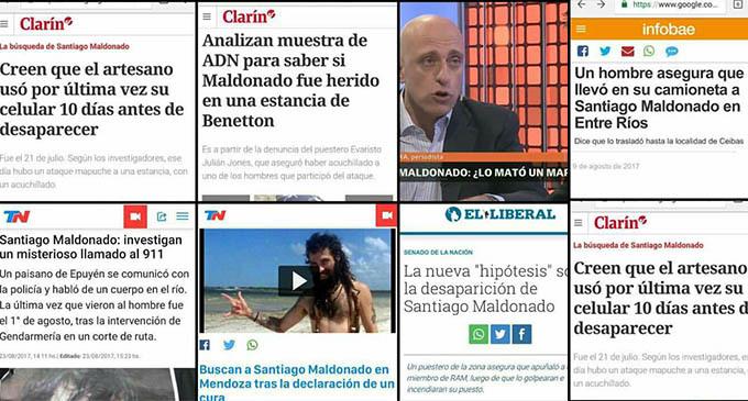 El caso de Santiago Maldonado y las miserias del periodismo
