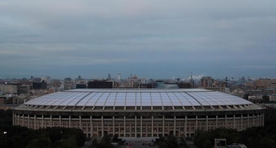 General view shows Luzhniki Stadium which will host 2018 FIFA in Moscow