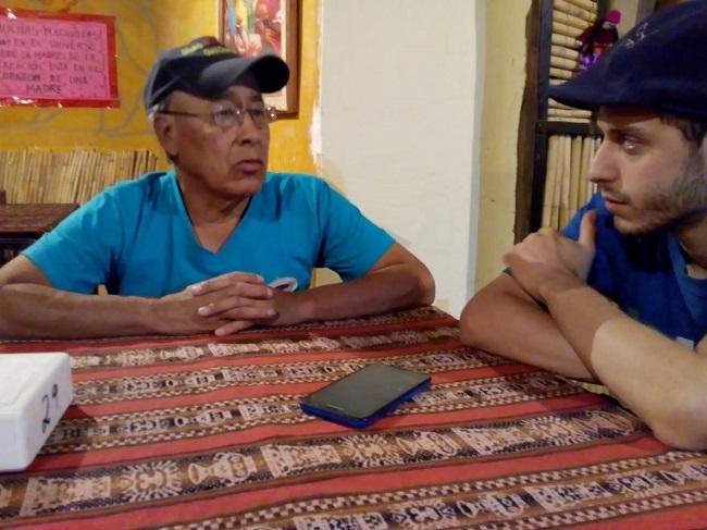 """El día que """"Chuspita"""" recibió a Notas en su casa de Jujuy."""