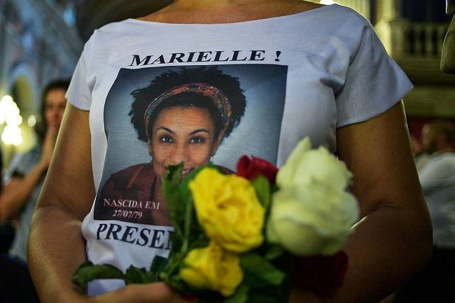 Marcha a un año del asesinato de la concejal de Río de Janeiro.