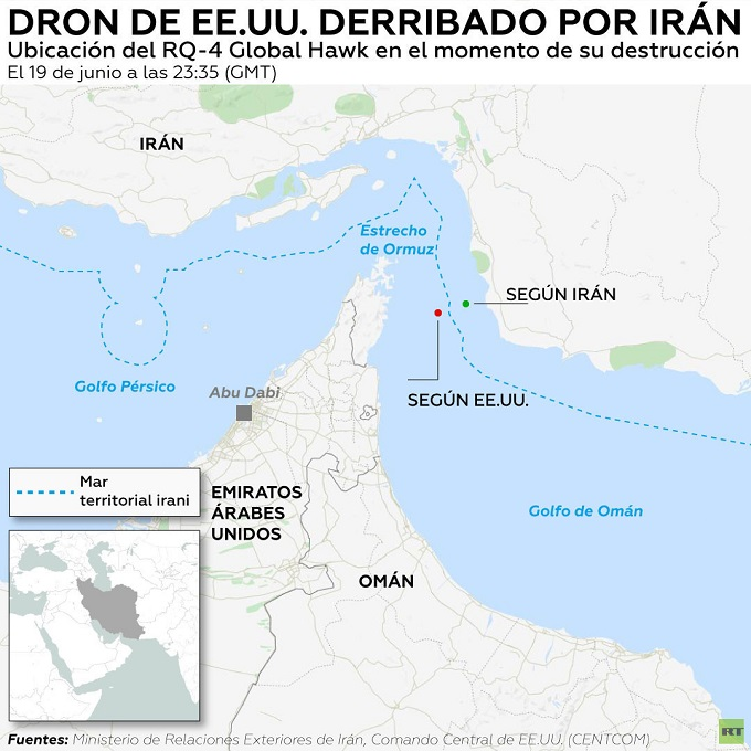 Dron derribado EEUU Iran