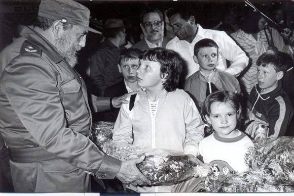 Fidel Niños Chernobil