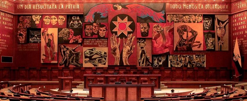 Oswaldo Guayasamín, Mural de la Patria, Asamblea Nacional del Ecuador, 1988